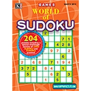 World of Sudoku Magazine Subscription, 6 Issues, Puzzles   Games magazines.com