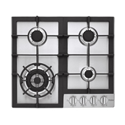 Haier HCC2230AGS 24 Gas Cooktop - Stainless, Silver