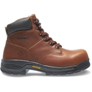 Wolverine Mens Harrison Lace-Up Steel-Toe 6 Work Boot Brown, Size 9.5 Medium Width