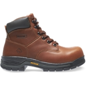 Wolverine Mens Harrison Lace-Up Steel-Toe 6 Work Boot Brown, Size 8.5