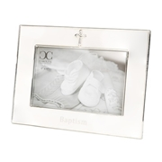 Roman Cross Baptism Picture Frame