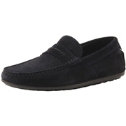 Hugo Boss Mens Dandy Suede Driving Loafers Shoes - Dark Blue - 9 D M US