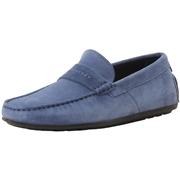 Hugo Boss Mens Dandy Suede Driving Loafers Shoes - Medium Blue - 11 D M US