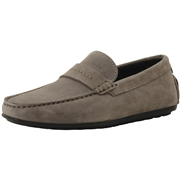 Hugo Boss Mens Dandy Suede Driving Loafers Shoes - Medium Grey - 9 D M US