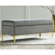 Ashley Furniture Bachwich Storage Bench, Gray