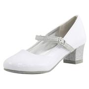 Nine West Little/Big Girls Patrece Mary Janes Shoes - White - 1 M US Little Kid