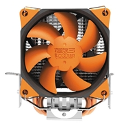 22 geekbuy Pccooler S88 CPU Cooler Fan With 2 Heat 4 Pin 8cm PWM Mute Cooling Computer PC For AMD Intel - Yellow