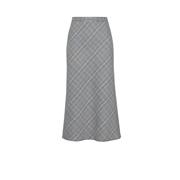 Dorothy Perkins Grey Check Print Midi Skirt