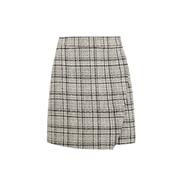 Dorothy Perkins Camel Check Print Boucle Mini Skirt