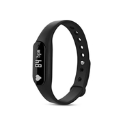 21 geekbuy C6 Bluetooth 4.0 Smart Bracelet Heart Rate Monitor Sleep Tracker Call/SMS Reminder Anti-lost IP65 Waterproof For Android iOS - Black