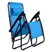 Costway Outdoor Folding Zero Gravity Reclining Lounge Chair-Light Blue