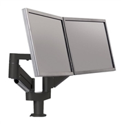 Ergotech 7Flex Dual - Mounting kit 2 articulating arms for 2 LCD / plasma panels - black - screen size: up to 32-inch
