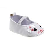 Laura Ashley Baby Girls Kitty Crib Shoe - White, Size: 2 - Baby