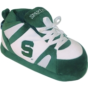 COMFY FEET Mens Michigan State Spartans Slippers, Size: Medium, Green