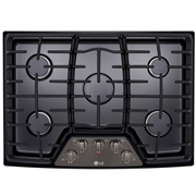 LG LCG3011BD 30? Gas Cooktop w/ SuperBoil Black Stainless Steel