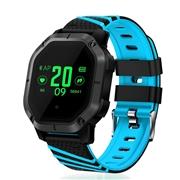 23 geekbuy Makibes K5 Smart Bracelet 1 Color Screen Blood Pressure Oxygen Heart Rate Monitor IP68 Water Resistant - Blue