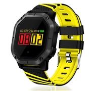 23 geekbuy Makibes K5 Smart Bracelet 1 Color Screen Blood Pressure Oxygen Heart Rate Monitor IP68 Water Resistant - Yellow