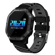 23 geekbuy Makibes K5 Smart Bracelet 1 Color Screen Blood Pressure Oxygen Heart Rate Monitor IP68 Water Resistant - Black