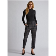 Dorothy Perkins Green Check Print Peg Trousers