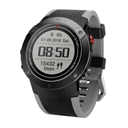 28 geekbuy Makibes DM18 Smartwatch Continuous Heart Rate Monitor IP68 Water Resistant LED Screen GPS Multi-Sport Mode - Black