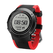 28 geekbuy Makibes DM18 Smartwatch Continuous Heart Rate Monitor IP68 Water Resistant LED Screen GPS Multi-Sport Mode - Red