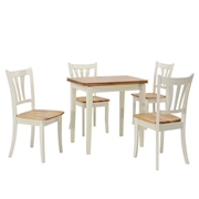 Costway 5 Piece Dining Folding Tabletop Set 4 Chairs