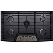 LG Studio LSCG367BD Series 36? Gas Cooktop Black Stainless Steel