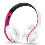 21 geekbuy M3 Foldable Wireless Bluetooth Headphones Stereo Sound Support TF Card FM - Fushcia + White