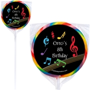 Costume Supercenter Dancing Music Personalized Lollipops 12 Count