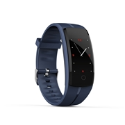 22 geekbuy Makibes QS100 Smart Bracelet 0.96 Color Touchscreen Continuous Heart Rate Monitor Blood Pressure IP67 - Blue