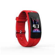 22 geekbuy Makibes QS100 Smart Bracelet 0.96 Color Touchscreen Continuous Heart Rate Monitor Blood Pressure IP67 - Red