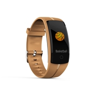 22 geekbuy Makibes QS100 Smart Bracelet 0.96 Color Touchscreen Continuous Heart Rate Monitor Blood Pressure IP67 - Coffee