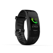 21 geekbuy Makibes QS100 Smart Bracelet 0.96 Color Touchscreen Continuous Heart Rate Monitor Blood Pressure IP67 - Black
