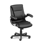 Direct Petite Flip Arm Executive Chair in Faux Leather - Officient