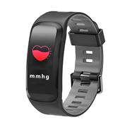22 geekbuy No.1 F4 Pro Smart Bracelet 0.96 OLED Touch Screen Blood Pressure Oxygen Dynamic Heart Rate Monitor IP68 - Gray