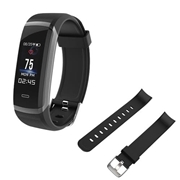 21 geekbuy Makibes HR3 Smart Bracelet Continuous Heart Rate Monitor TFT Color Touchscreen Black + Replacement Strap Band