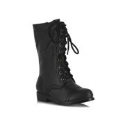 ELLIE SHOES Kids Black Combat Boots - Size 2/3 by Spirit Halloween