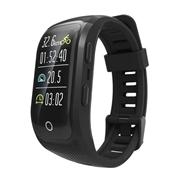 24 geekbuy Makibes G03 Plus Smart Bracelet Built-in GPS Color Screen Dynamic Heart Rate Monitor IP68 Waterproof Bluetooth - Black