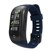 24 geekbuy Makibes G03 Plus Smart Bracelet Built-in GPS Color Screen Dynamic Heart Rate Monitor IP68 Waterproof Bluetooth - Blue
