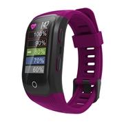 24 geekbuy Makibes G03 Plus Smart Bracelet Built-in GPS Color Outdoor Display Dynamic Heart Rate Monitor IP68 Waterproof - Red