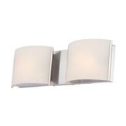 Ashley Furniture Elk Pandora 2 Light Bath Vanity Fixture, Chrome
