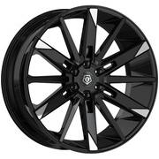TIS 545MBT 24X10 Gloss Black with Mirror Machined Spoke Tips, Wheel Rims, 6 x 5.50 Bolt Pattern, +30 Offset, 545MBT-2418430