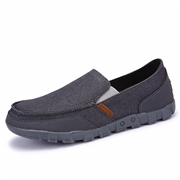 22 geekbuy S1029 Mens Casual Canvas Shoes Comfortable Rubber Sole Flats Size EU43 - Gray