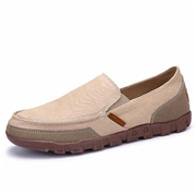 22 geekbuy S1029 Mens Casual Canvas Shoes Comfortable Rubber Sole Flats Size EU41 - Khaki