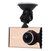 A9 3.0Inch 140 Degree Wide Angle 1626 Chipset Car Vehicle DVR Camcorder With Night Vision G-Sensor Motion Detection - Gold
