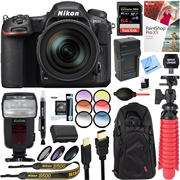 Nikon D500 20.9MP Digital SLR Camera with 16-80mm VR Lens + 64GB Accessory Bundle