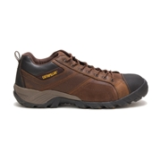 Caterpillar Mens Argon Composite Toe Work Shoe Dark Brown, Size 9M
