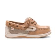 Sperry Kids Songfish Junior Boat Shoe Linen/Oat, Size 11W