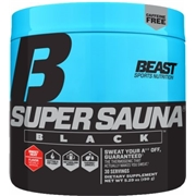 Beast Sports Nutrition Super Sauna Black Sweet Heat 30 Servings - Stimulant Free Fat Burners