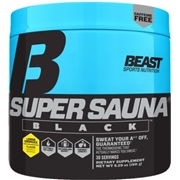 Beast Sports Nutrition Super Sauna Black Lemon Dropkick 30 Servings - Stimulant Free Fat Burners